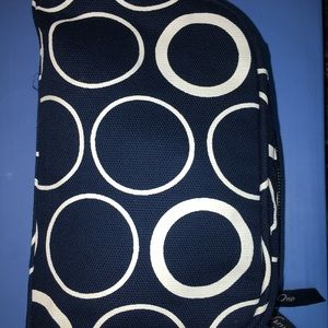 thirty one small cosmetic bag with outside zipper